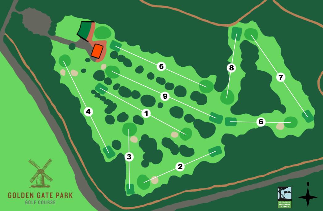 Golden Gate Park Golf Course - Us golf course map
